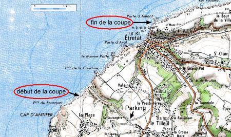 Localisation cartographique du parcours