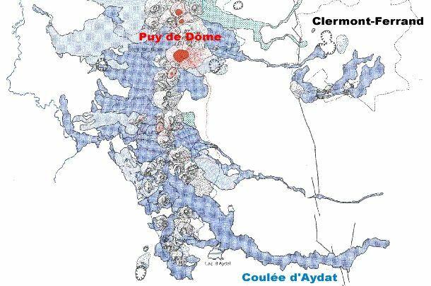 La carte géologique correspondante