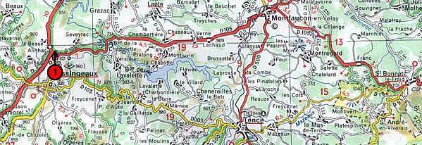 Localisation cartographique des arrêts - carte 1