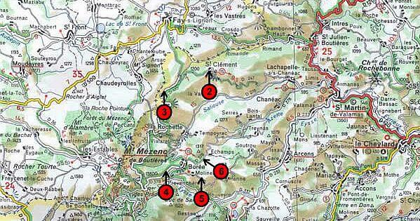 Localisation cartographique des arrêts - carte 2