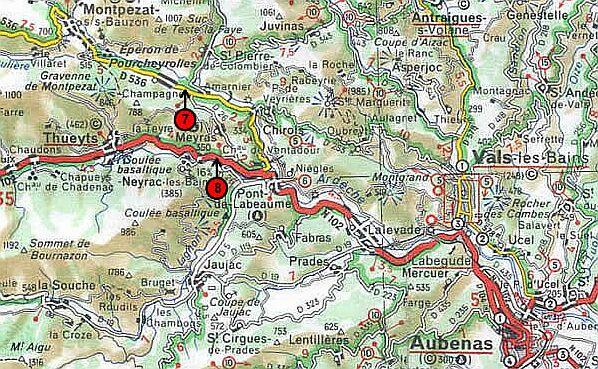 Localisation cartographique des arrêts - carte 3