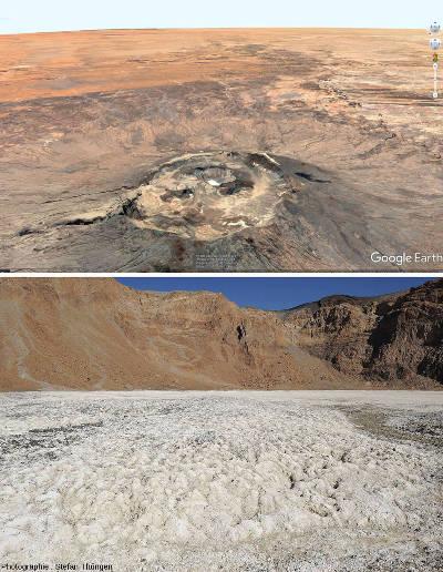 Cratère de l'Emi Koussi dans le massif du Tibesti (Tchad)