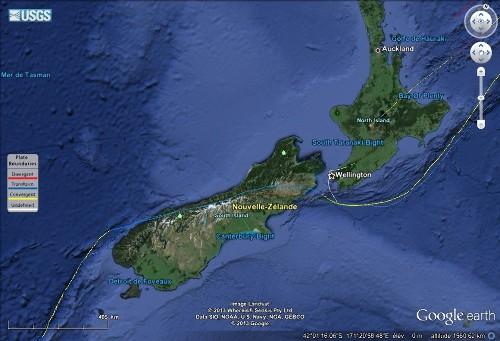 Limite Australie / Pacifique au voisinage de la Nouvelle-Zélande