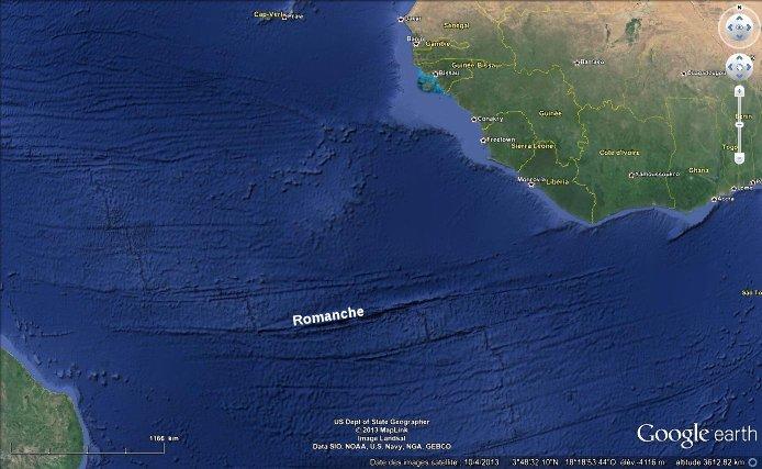 Fractures océaniques dans l'Atlantique central