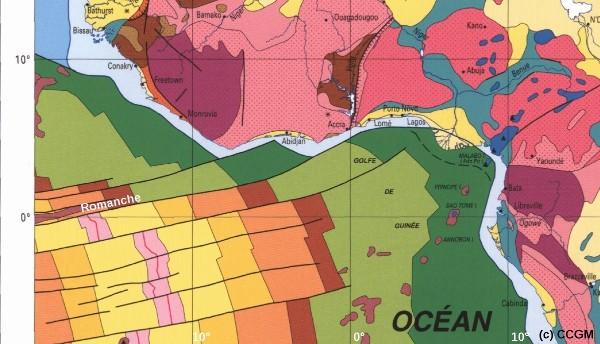 Failles transformantes au large de côtes Ouest-africaines