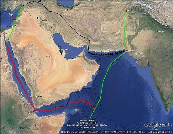 Failles transformantes en limites orientale et occidentale de la plaque arabique