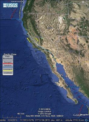 Californie et faille de San Andrea
