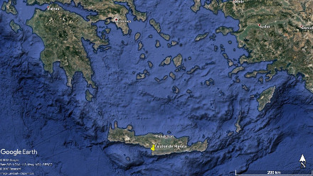 La mer Égée et la Crète
