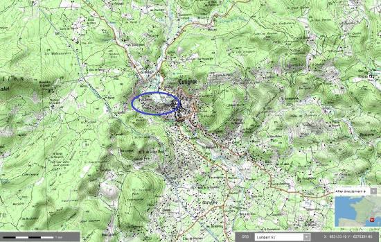 Localisation précise de la barre de travertin de Cotignac (Haut-Var)
