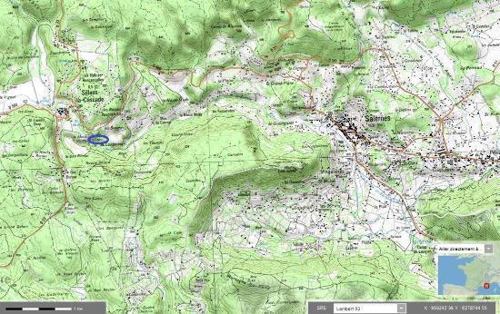 """Localisation précise de la cascade de """"tuf"""" de Sillans (Haut-Var)"""