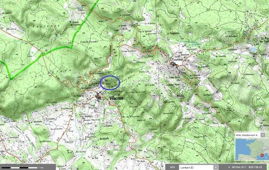 Localisation précise du château-grotte de Villecroze, dans le Haut-Var
