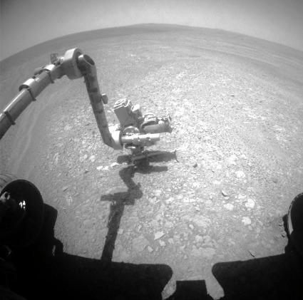 Les instruments d'analyse et d'imagerie haute résolution d'Opportunity étudient Homestake