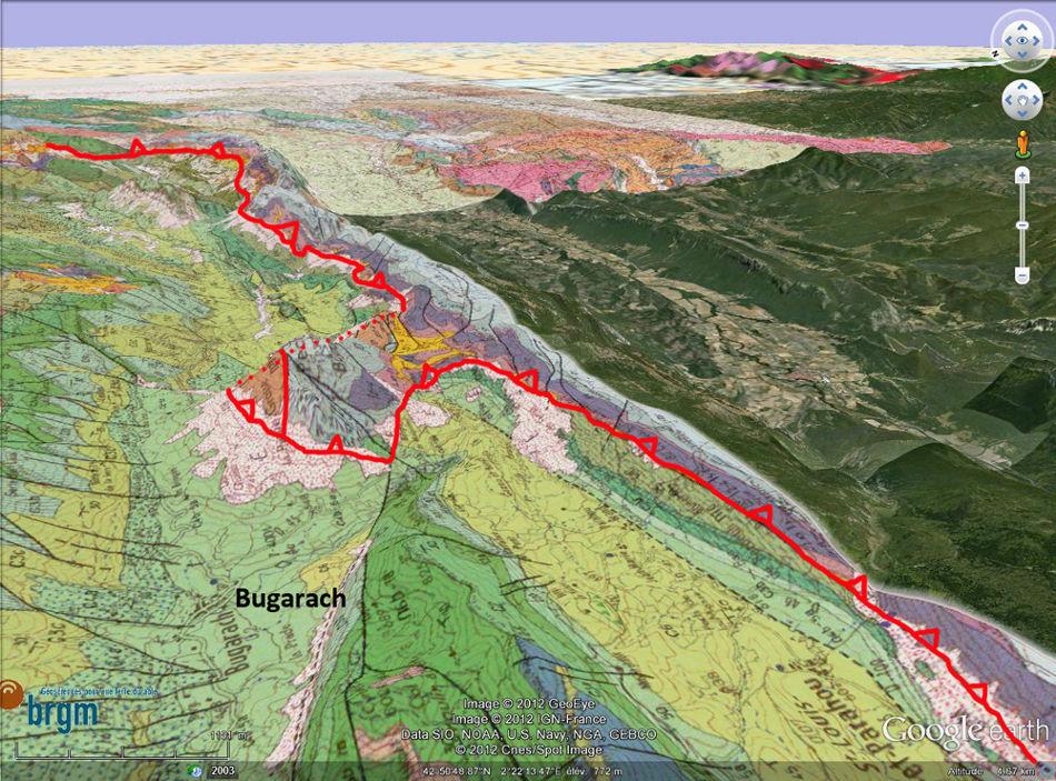 Cadre géologique local de Bugarach (Aude)