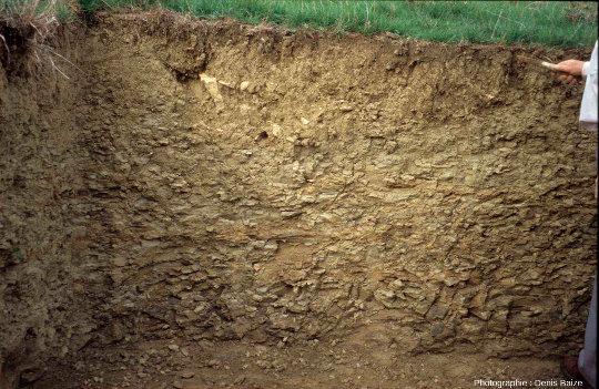 La limite entre sol et roche n'est pas toujours facile à distinguer