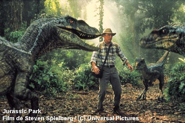 Rencontre avec des dinosaures... encore une fiction pour longtemps (Jurassic Park)