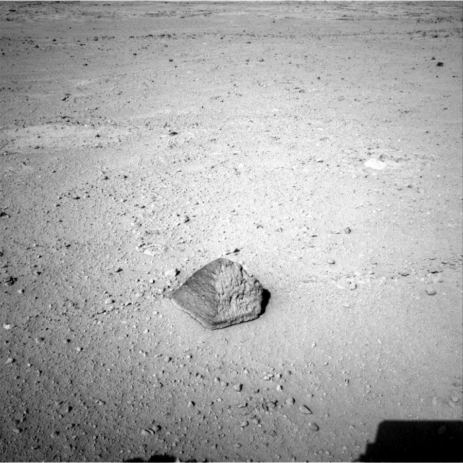 Le rocher nommé Jake Matijevic, première cible où ont été testés simultanément ALPS et Chemcam