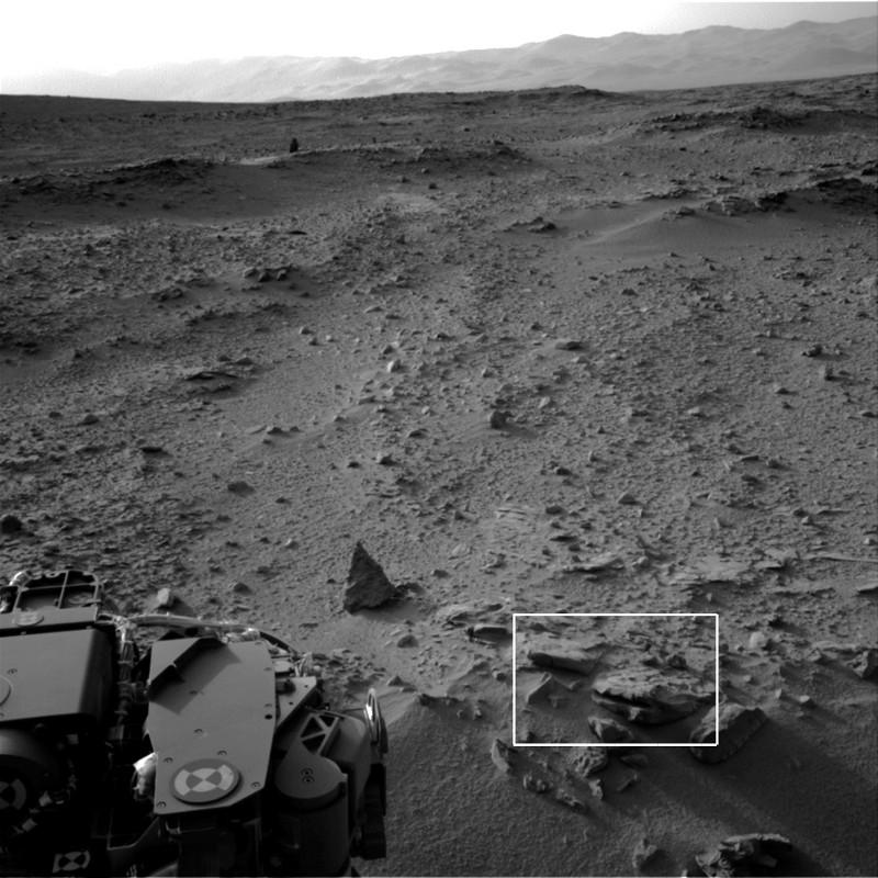 Paysage localisant les roches photographiées en gros plan aux figures suivantes