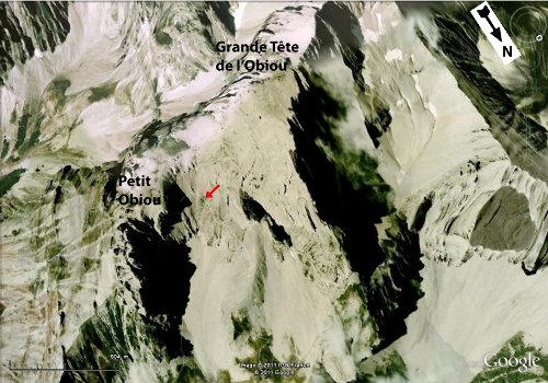Vue Google Earth de l'Obiou