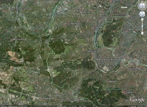 Transposition théorique dans l'Ouest parisien de l'espacement des puits au Colorado et de leur emprise au sol française