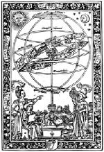 Illustration du Theoricarum novarum planetarum testus de Peuerbach, Paris, 1515