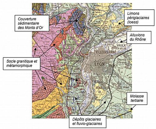 Cadre géologique de l'agglomération lyonnaise