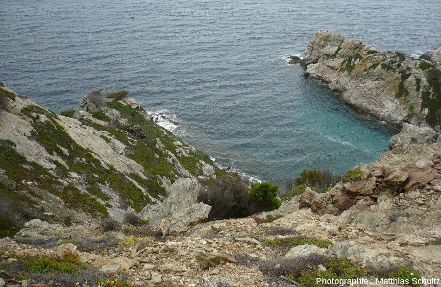 Les phyllades de l'ile de Porquerolles