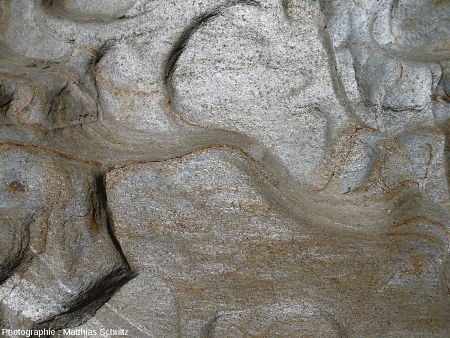 Détail du plan de schistosité dans les phyllades à grain fin près de Brégançon