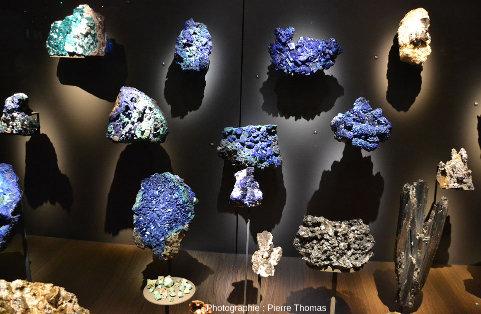 Azurites de Chessy-les-Mines, anciennes mines de cuivre situées à 25km au NO de Lyon