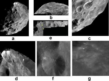 Photographies de la surface de Phoebé