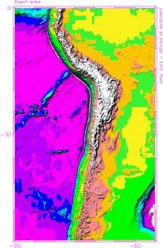 Zone de subduction, bordure Est-Pacifique, Amérique du Sud