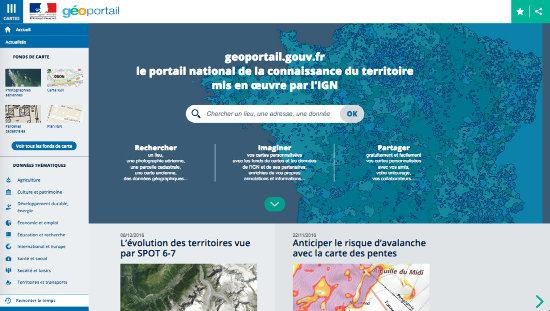 """Connexion au portail """"Remonter le temps"""" depuis le Géoportail"""