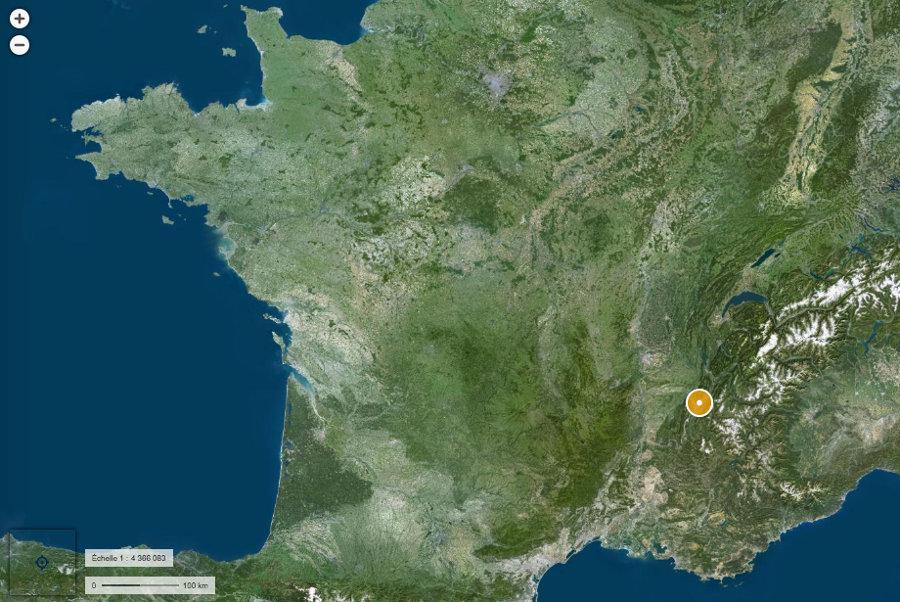 Localisation de Grenoble (Isère)