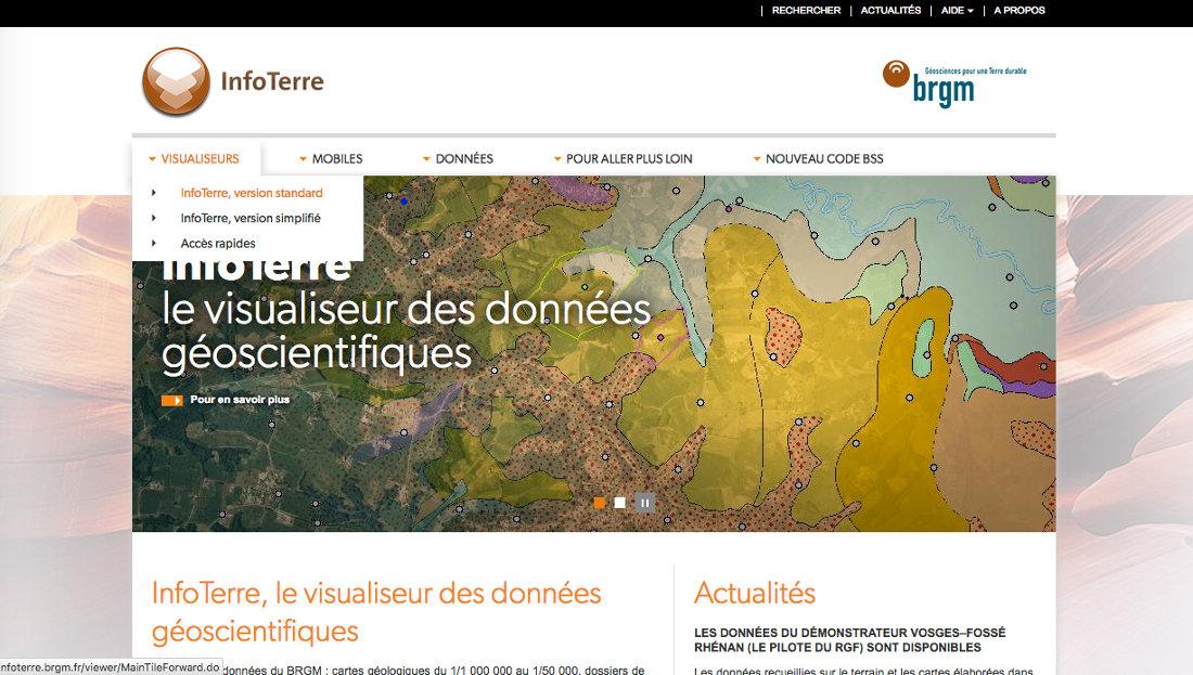 Obtention des notices de cartes géologiques avec le portail InfoTerre du BRGM - accès InfoTerre