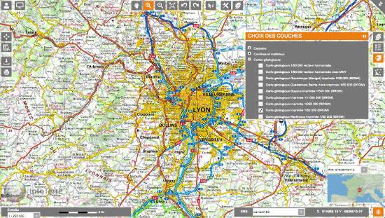 Obtention des notices de cartes géologiques avec le portail Infoterre du BRGM - ajout de couche