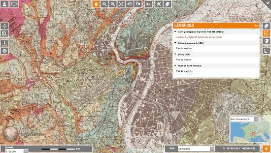 Obtention des notices de cartes géologiques avec le portail Infoterre du BRGM - accès aux légendes