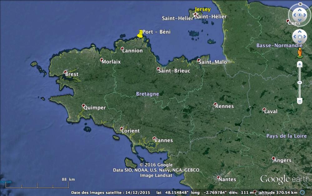 Localisation de Port-Béni en Bretagne