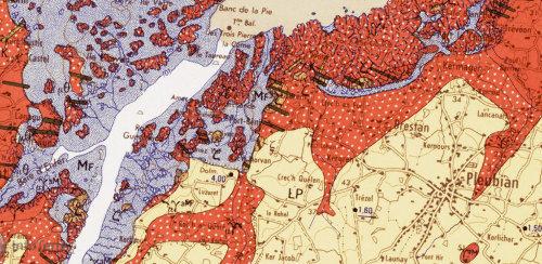 Extrait de la carte géologique de Tréguier au 1/50000