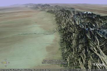Une grande faille dans le désert chinois