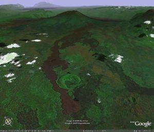 Les coulées de basalte du Nyiragongo (Zaïre)