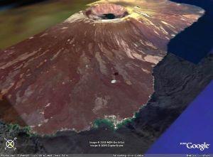Un volcan des Galapagos, Fernadina