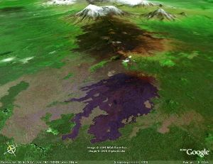 Un volcan de la péninsule du Kamchatka