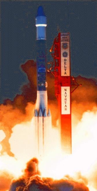Le lancement d'un satellite GPS