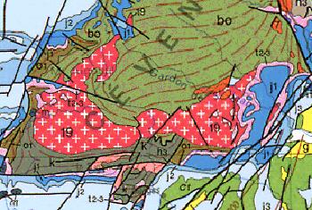 Pluton Aigoual-Liron, dans les Cévennes (limite Gard-Lozère)