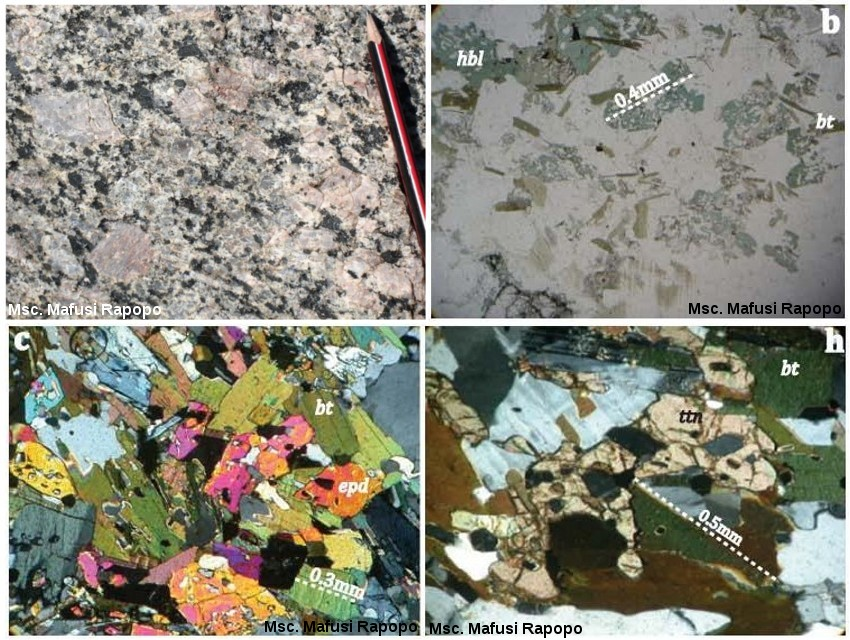Granite KCG, pluton de Matok, Afrique du Sud (2.64 Ga)