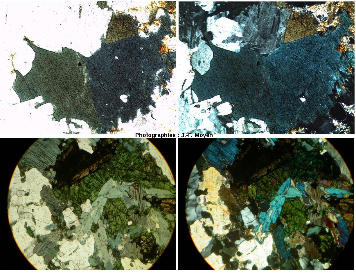 Granites hyper-alcalins (PAG), microscope polarisant