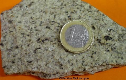 Échantillon macroscopique de granite à deux micas