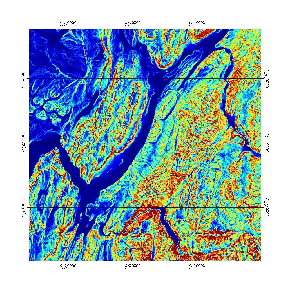 Les alentours du massif de la Chartreuse : carte des pentes