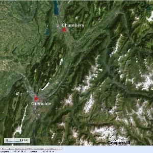 Les environs de Grenoble-Chambéry, vallée de l'Isère