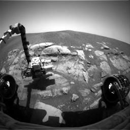 """Exemple d'image de l'exploration du 28ième """"sol"""" d'Opportunity"""