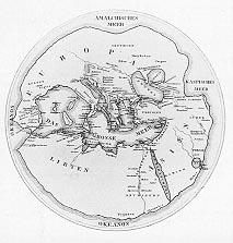 Carte d'Hécatée de Milet (VIe siècle av. J.-C.)